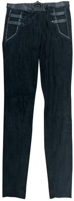 Isabel Marant Green Suede Trousers