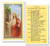 Gifts by Lulee A Prayer for Those Who Live Alone Holy Card Blessed By His Holiness Pope Francis