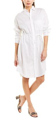 Vince Oversized Classic Linen-Blend Shirtdress