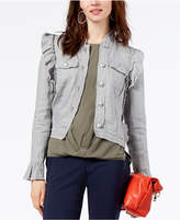INC International Concepts Ruffled Linen Jacket, Created for Macy's
