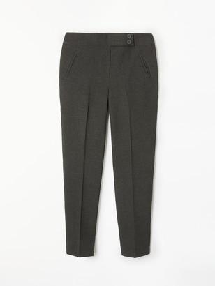 John Lewis & Partners Girls' Adjustable Waist Stain Resistant Button School Trousers