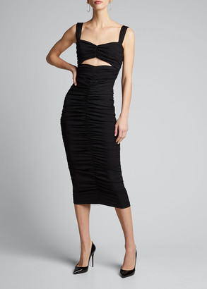 Dolce & Gabbana Ruched Bandeau Bodycon Dress