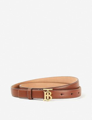 Burberry Logo-buckle leather belt