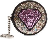 Saint Laurent Glitter-patch leather coin purse