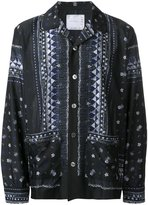 Sacai tribal lace shirt - men - Polyester - 1
