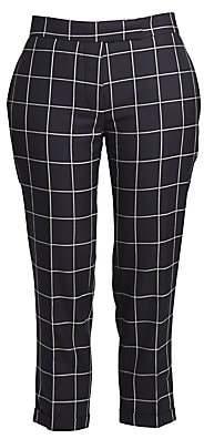 Thom Browne Women's Wool Windowpane Cropped Trousers
