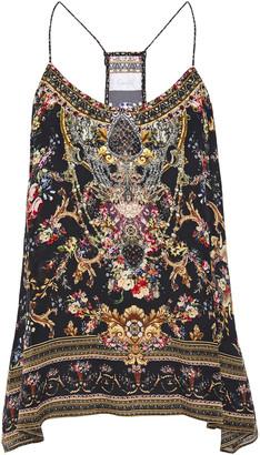 Camilla Crystal-embellished Printed Silk Crepe De Chine Camisole