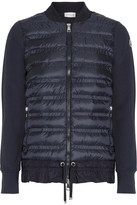 Moncler Quilted Shell And French Cotton-terry Down Jacket - Navy