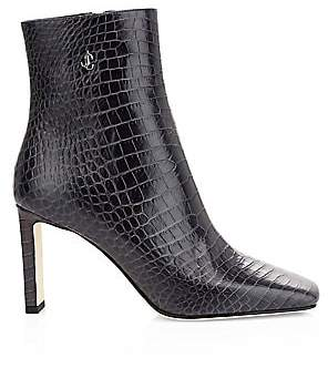 Jimmy Choo Women's Minori Croc-Embossed Leather Ankle Boots