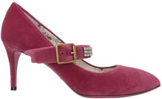Gucci Sylvie Pink Velvet Heels