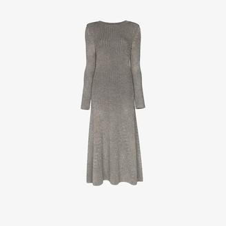 Mara Hoffman Striped Ribbed Knit Midi Dress