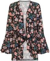 Girls On Film *Girls on Film Blue Bell Print Kimono Jacket