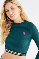 Fila Colleen Cropped Long Sleeve Top
