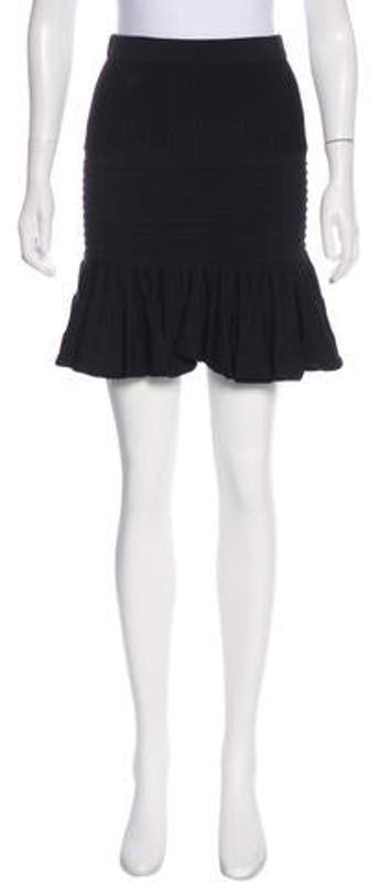 Jonathan Simkhai Flared Mini Skirt Black Flared Mini Skirt