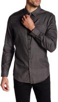 Calvin Klein Long Sleeve Slim Fit Plaid Dress Shirt