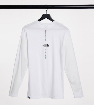 The North Face Vertical long sleeve t-shirt in white Exclusive at ASOS