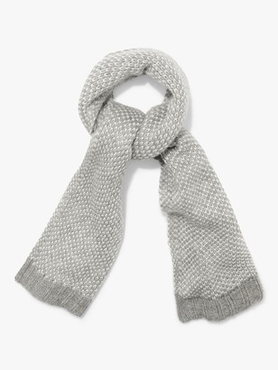 Phase Eight Kayla Knitted Scarf, Grey/Ivory