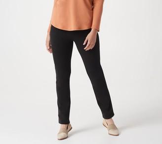 Denim & Co. Comfy Knit Denim Slim Leg Side-Pocket Jeans