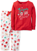 Carter's 2-Pc. Sugar & Spice Holiday Snacks Pajama Set, Baby Girls (0-24 months)