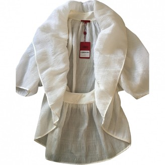 Vivienne Tam White Cotton Jacket for Women