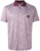 Versace jacquard polo shirtc - men - Cotton - S