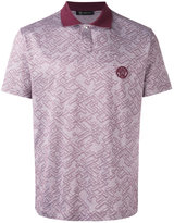 Versace jacquard polo shirtc - men - Cotton - XXL