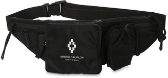 Marcelo Burlon County of Milan Logo Cross Nylon Belt Bag