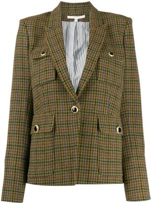 Veronica Beard plaid fitted blazer