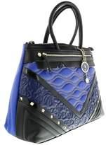 Versace Ee1vobbk6 Emaf Black/blue Satchel.
