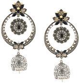 Alexander McQueen jewelled earring duo set