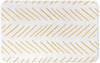 Designs Direct Creative Group Yellow and White Modern Chevron 34x21 Bath Mat