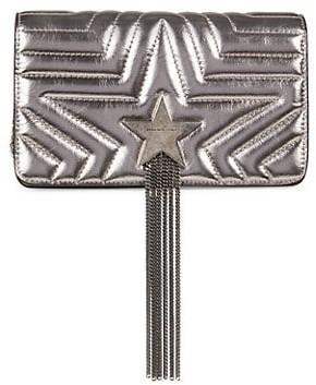 Stella McCartney Stella Star Metallic Fringe Crossbody Bag