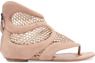 Alaia Mesh And Suede Sandals