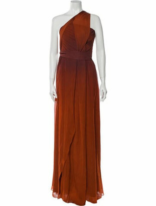 Narciso Rodriguez Silk Long Dress Orange
