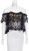 Stone_Cold_Fox Stone Cold Fox Off-The-Shoulder Eyelet Top