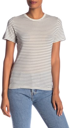 Vince Short Sleeve Stripe Crew Neck T-Shirt
