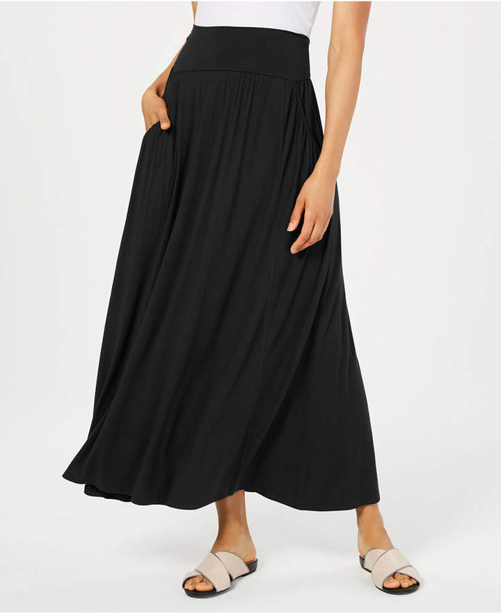 e971385330 Long Black Skirt With Pockets - ShopStyle