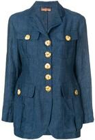 Romeo Gigli Pre Owned oversized button blazer