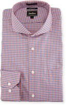 Neiman Marcus Trim-Fit Regular-Finish Plaid Dress Shirt