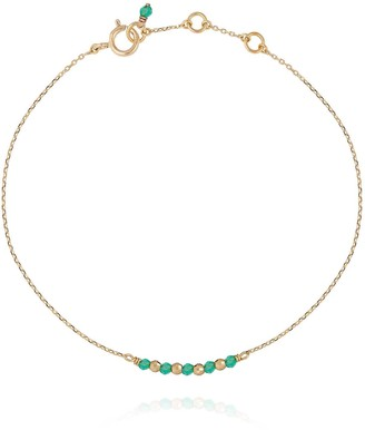 Perle de Lune Disco Gem Bracelet Green Agate