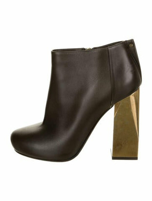 Lanvin Leather Boots Grey