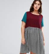 Alice & You Contrast Gingham Print Skater Dress