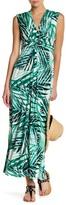 Eliza J Twisted Front Sleeveless Maxi Dress
