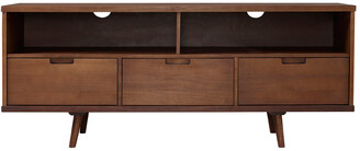 Hewson 58In 3-Drawer Solid Wood Tv Console