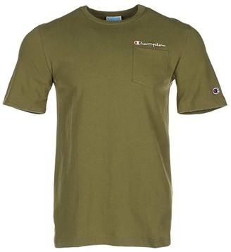Champion Heritage Short Sleeve Pocket Tee (Olive Khaki) Men's Clothing