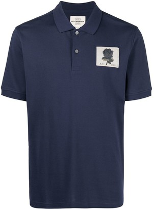 Kent & Curwen Logo-Patch Short-Sleeved Polo Shirt