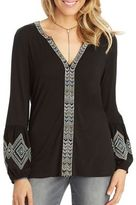 Democracy Chevron Embroidered Blouse