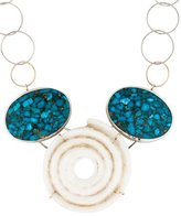 Melissa Joy Manning Turquoise and Shell Necklace