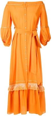 Clube Bossa Nisse fringed maxi dress