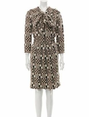 Oscar de la Renta 2008 Knee-Length Dress Brown